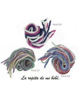 Pack cordones de lana