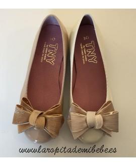 Manoletina niña Lazo Tinny Shoes